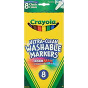 Crayola Washable Markers, Ultra-Clean, Classic Colors