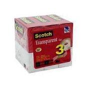 """Scotch 3/4"""" X 1000"""" Clear Transparent Tape"""