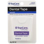 TopCare Waxed Dental Tape, Unflavored