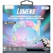 Premier Led Rope Light + Remote Control, Multi-Color, Weatherproof, 16 Feet