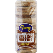 Franz English Muffins, Whole Wheat, Family Pack