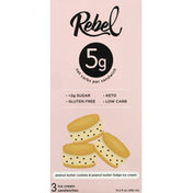 Rebel Ice Cream Sandwich, Peanut Butter Cookies & Peanut Butter Fudge Ice Cream