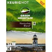 Green Mountain Coffee, Medium Roast, Nantucket Blend, K-Cup Pods, Value Pack