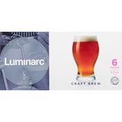 Luminarc Glass, Craft Brew, 5.75 Ounce