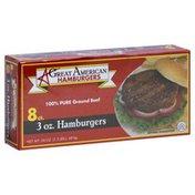 Great American Hamburgers, 3 oz