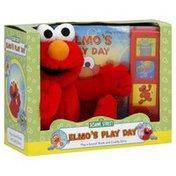 Sesame Street Play-a-Sound Book and Cuddly Elmo