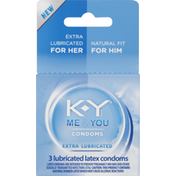 K-y Condoms, Latex, Extra Lubricated