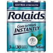 Rolaids Antacid, Extra Strength, Tablets, Mint