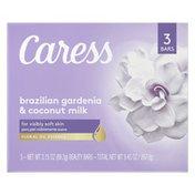 Caress Beauty Bar Soap Brazilian Gardenia & Coconut Milk
