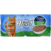 9Lives Cat Food, Meaty Pate, with Real Chicken