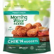Morning Star Farms Meatless Chicken Nuggets, Plant Based Protein Vegan Meat, Original
