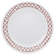 Corelle Plate, Luncheon, Crimson Trellis, 8-1/2 Inch, Bulk Pack