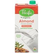 Pacific Organic Almond Original Unsweetened Non-Dairy Beverage