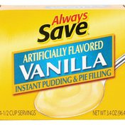 Always Save Vanilla Instant Pudding And Pie Filling