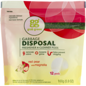GG Grab Green Grab Green Garbage Disposal Freshener & Cleaner Pods Red Pear With Magnolia