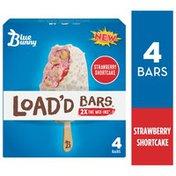 Blue Bunny Load'd Bars Strawberry Shortcake