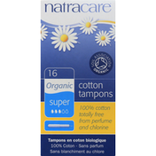 Natracare Tampons, Cotton, Organic, Super