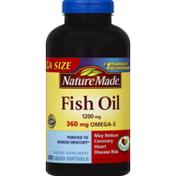 Nature Made Fish Oil, 1200 mg, Liquid Softgels, Mega Size