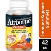 Airborne® Zesty Orange Flavored Gummies - 750mg of Vitamin C and Minerals & Herbs Immune Support