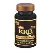Prince Gold KRG Korean Red Ginseng Capsules - 50 CT