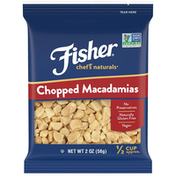 Fisher Chef's Naturals Chopped Macadamia Nuts, 2 oz (Pack of 12)Naturally Gluten Free, No Preservatives, Non-GMO