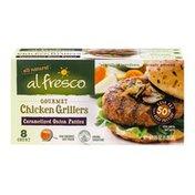 Alfresco Gourmet Chicken Grillers Patties Caramelized Onion - 8 CT