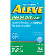 Aleve Headache Pain, 220 mg, Tablets