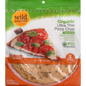 Wild Harvest Pizza Crust, Organic, Ultra Thin, 2 Pack