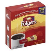 Folgers Coffee, Instant, Classic Roast, Single Serve Packets, Value Pack