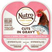 NUTRO Cuts in Gravy Chicken & Salmon Recipe Adult Cat Food