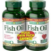 Nature's Bounty 1200mg Fish Oil Omega 3 Twin Pack