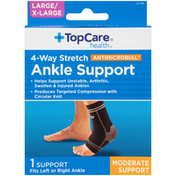 TopCare Small / Medium Moderate Support 4-Way Stretch Antimicrobial Ankle Support