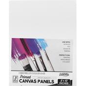 ArtSkills Canvas Panels, Primed, 3 Pack