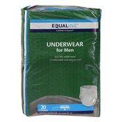 Equaline Underwear, for Men, Maximum Absorbency, Small/Medium