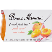 Bonne Maman French Fruit Treat, Peach, Apricot and Verbena, 2 Pack