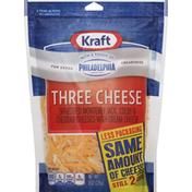 Kraft Cheese, Shredded, Three Cheese