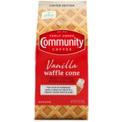 Community Coffee Vanilla Waffle Cone Ground Coffee