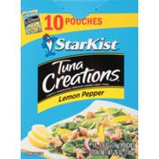 StarKist ® Tuna Creations® Lemon Pepper Lightly Marinated Premium Chunk Light Tuna 10