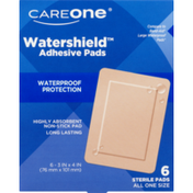 "CareOne Tan Watershield ADH Pads 3"" x 4"""