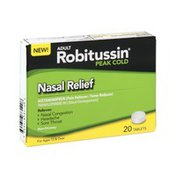 Robitussin Peak Cold Adult Nasal Relief Tablets
