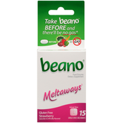Beano Strawberry Food Enzyme Dietary Supplement Single Dose Meltaways
