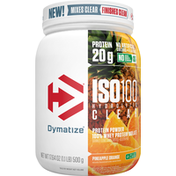 Dymatize Protein Powder, Pineapple Orange, ISO100 Hydrolyzed Clear
