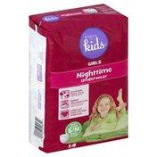 Basics For Kids Underwear, Nighttime, Girls, Small Medium (38-65 lb)