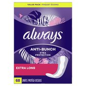Always Anti-Bunch Xtra Protection Exra Long Absorbency Unscented