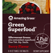Amazing Grass Green Superfood, Berry Flavor, Tablets