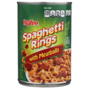 Hy-Vee Spaghetti Rings Pasta In Tomato Sauce With Meatballs