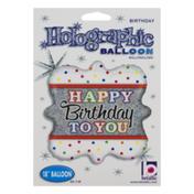 "Betallic 18"" Holographic Balloon Happy Birthday To You"