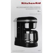 KitchenAid Coffee Maker, Drip, with Spiral Showerhead, Onyx Black