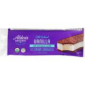 Alden's Organic Ice Cream Sandwich, Vanilla