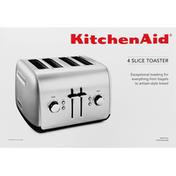 KitchenAid Toaster, 4 Slice, Contour Silver